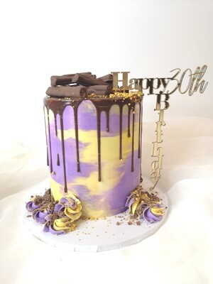 Happy (any age) Birthday Vert-Horizontal Topper
