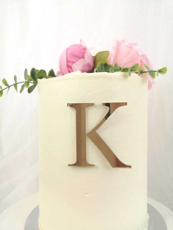 Single Letter Monogram Cake Charm