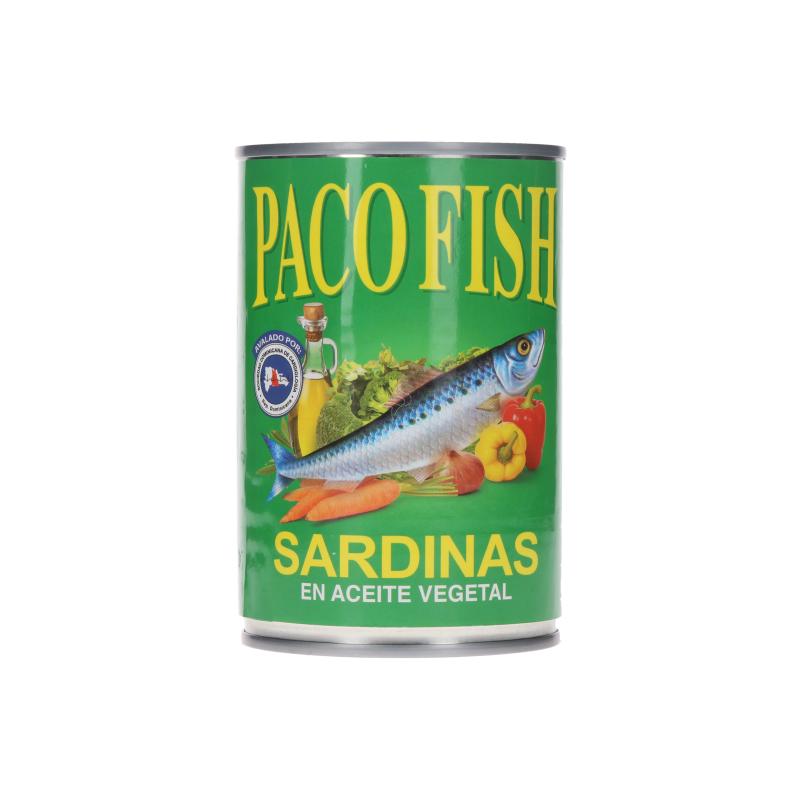 Sardinas Paco Fish En Aceite Vegetal 15 Oz
