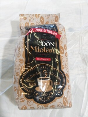 Café criollo molido Don Miolan 1/2 LB