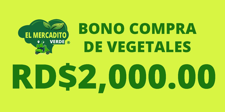 Bono compra de Vegetales