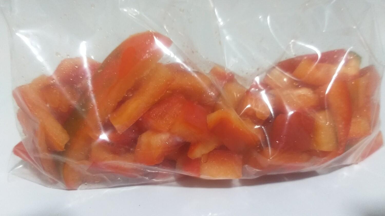 Ají morron rojo, refrigeraodo picado - 1/2 LB