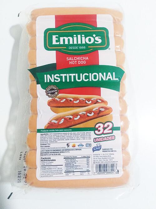 Salchichas HOTDOG EMILIOS INSTITUCIONAL - (32 UD)