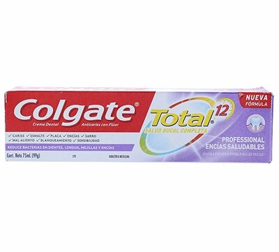 Crema Dental Colgate Total Professional Encías Saludables 75 Ml