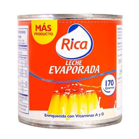 Leche Evaporada Rica 170 Gr- J