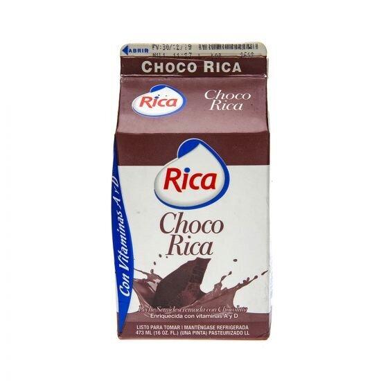 Leche Con Sabor A Chocolate Rica 16 Onz- J