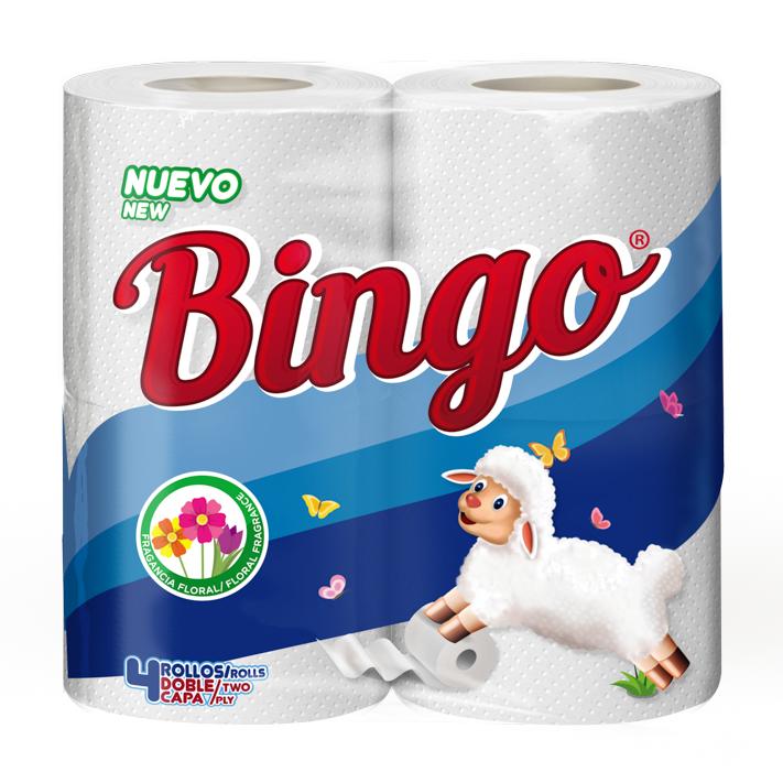 Papel Higiénico Bingo Fragancia 4 Uds.- S