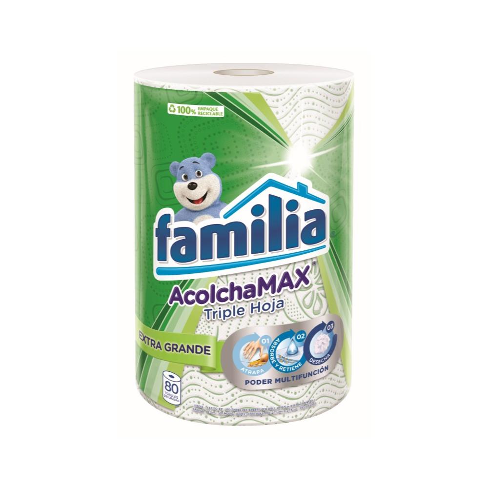 Papel Toalla Familia AcolchaMAX ExtraGrande Deco X80 H- S