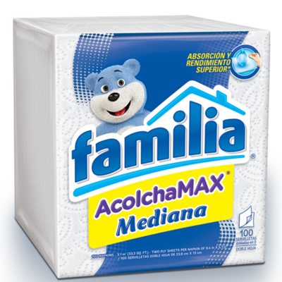 Servilletas Familia Acolchamax Mediana 100 Uds.- S