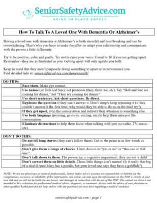 How To Talk To A Loved One With Dementia Or Alzheimer's