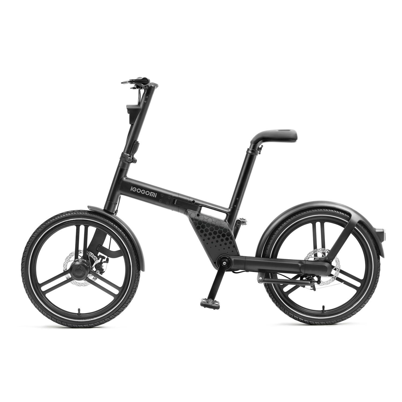 IGOGOMI  36V Electric Folding Bike Chainless - Black