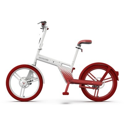 IGOGOMI   36V Electric Folding Bike Chainless - red&white