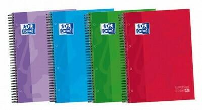Cuaderno Oxford European Book 4 Tapa Dura 5x5 120 Páginas A4