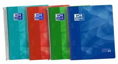 Cuaderno Oxford Cuadrículas 5x5 120 Hojas Tapa Plástica A4