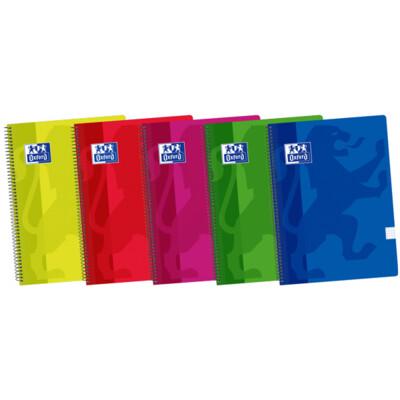 Cuaderno Oxford Cuadrícula 4x4 80 Hojas Tapa Plástica A4