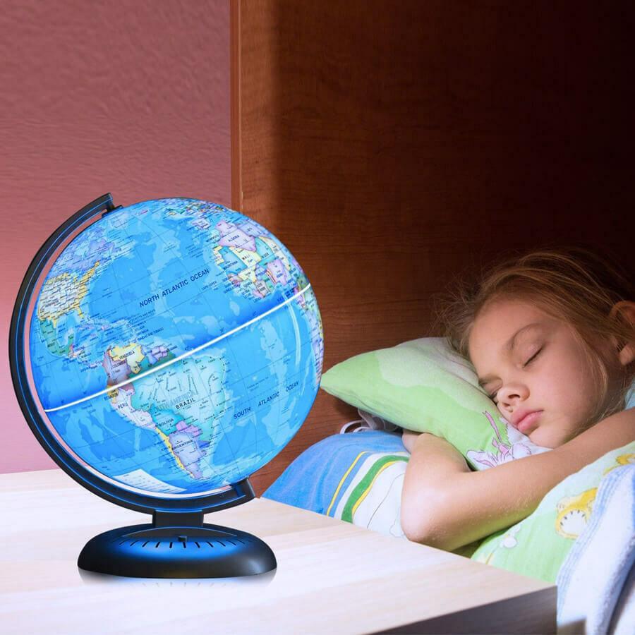 "8"" Illuminated Up-to-date Built-in LED Night World Globe"