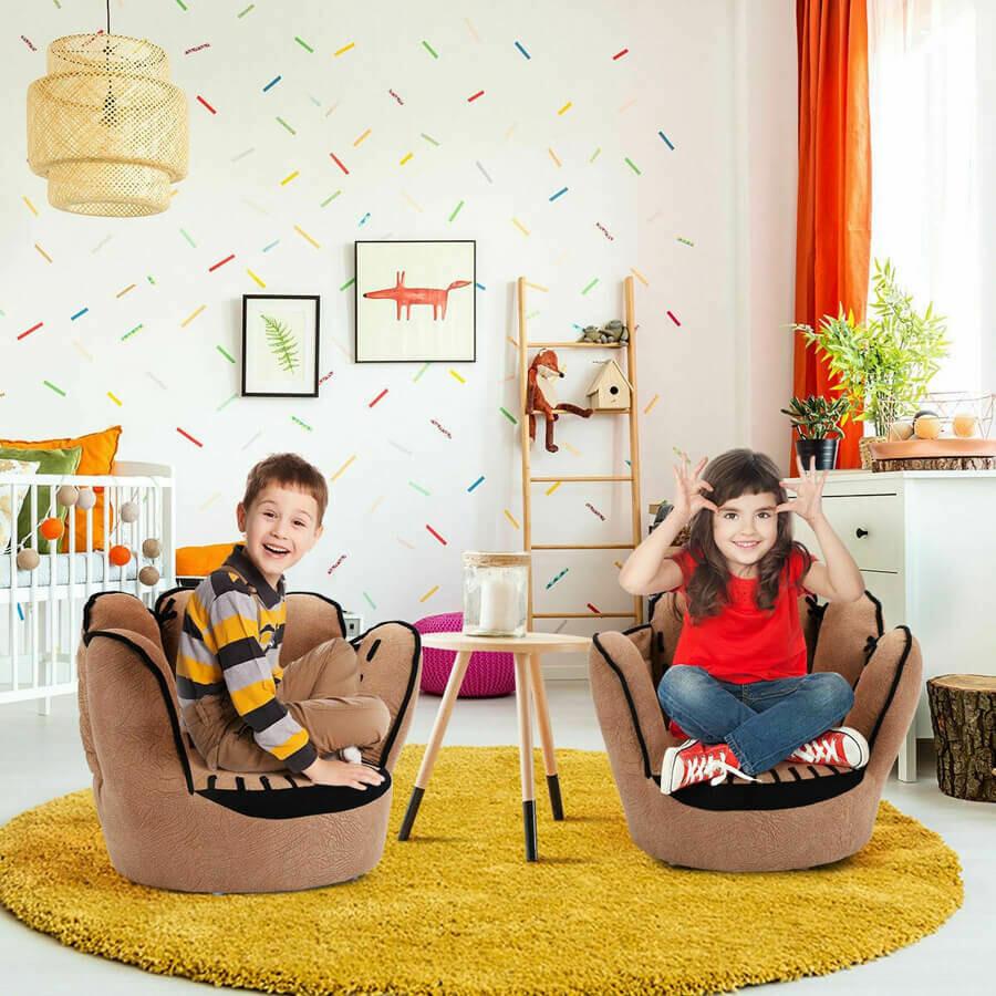 Five Fingers Baseball Glove Shaped Kids Furniture Sofa