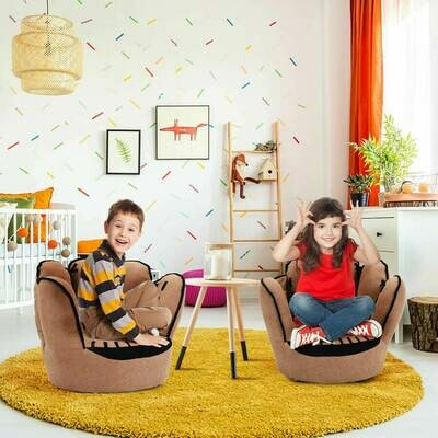 Five Fingers Baseball Glove Shaped Kids Furniture Sofa