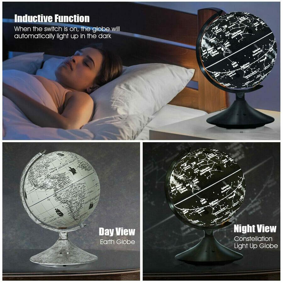 LED World Globe with Illuminated Star Map