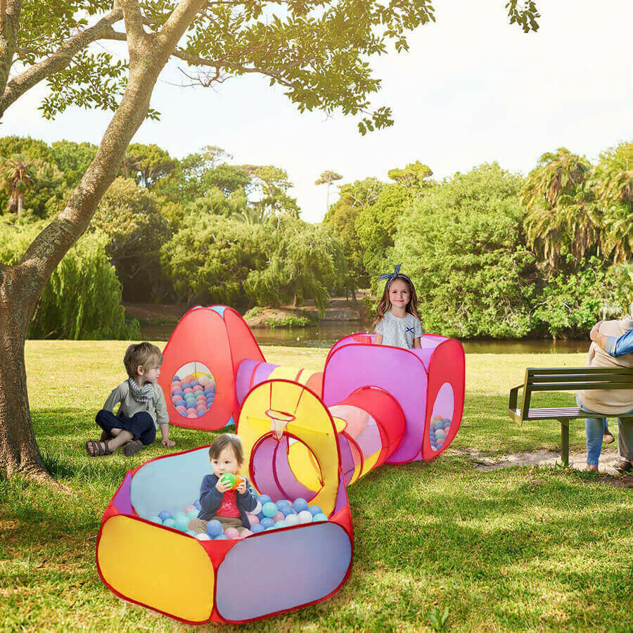 7 Pcs Kids Ball Pit Pop Up Play Tents