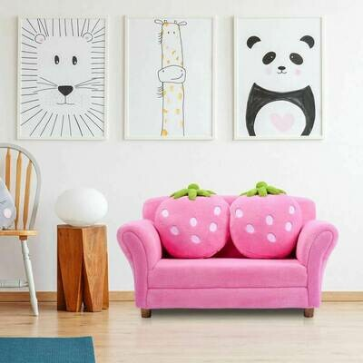 Kids Strawberry Armrest Chair Sofa