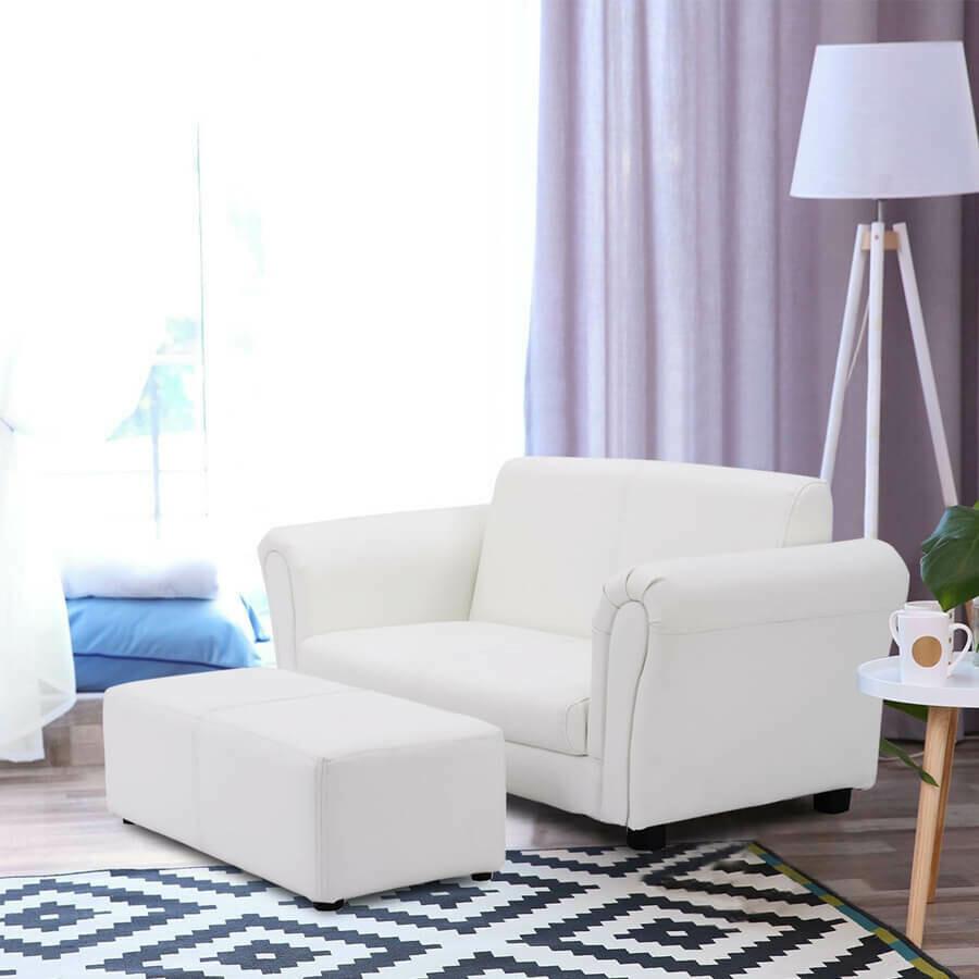Kids Double Sofa with Ottoman