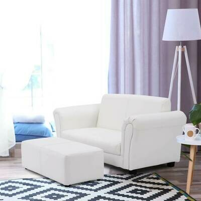 Kids Double Sofa with Ottoman