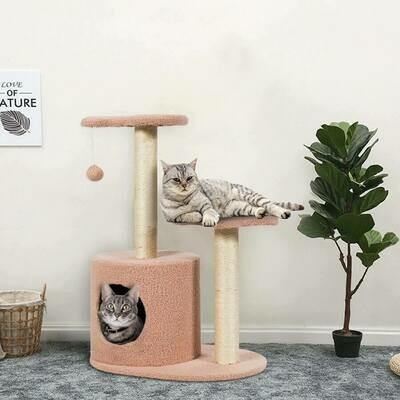 Multi-Level Cat Tree Climbing Tower
