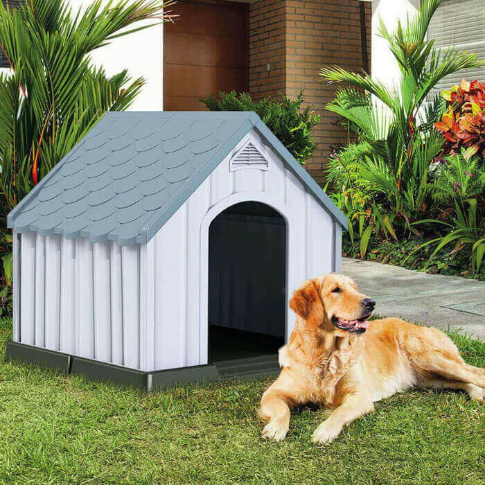 Plastic Medium-Sized Puppy Shelter Waterproof Ventilate Dog House