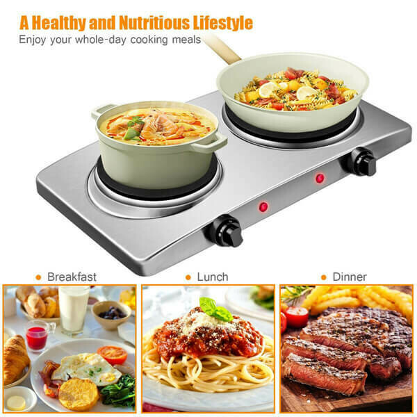 Double Hot Plate Electric Counter-top Burner
