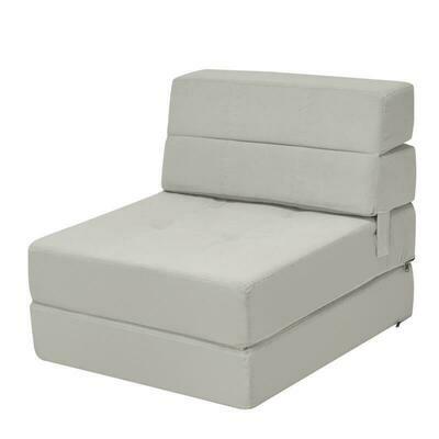 Tri-fold Folding Chair Convertible Sleeper Bed Chair
