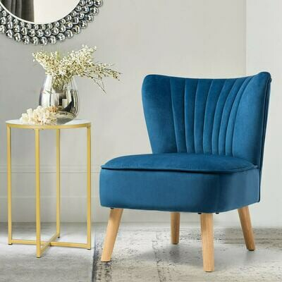 Armless Accent Chair Modern Velvet Leisure Chair