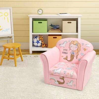 Kids Furniture Mermaid Armrest Couch Upholstered Sofa