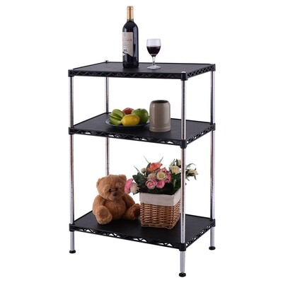 Adjustable Storage Rack Display Shelf 3-Tiers