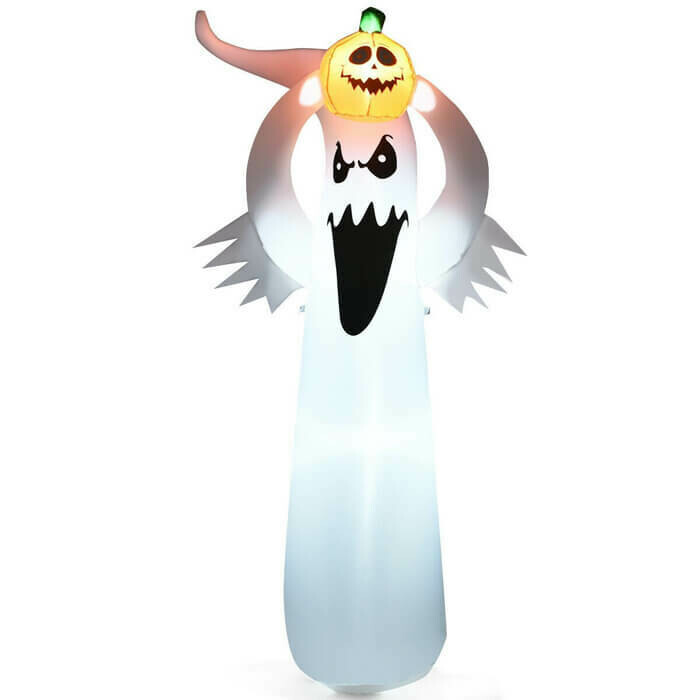 Halloween Inflatable Blow Up Ghost with LED Lights 6 ft