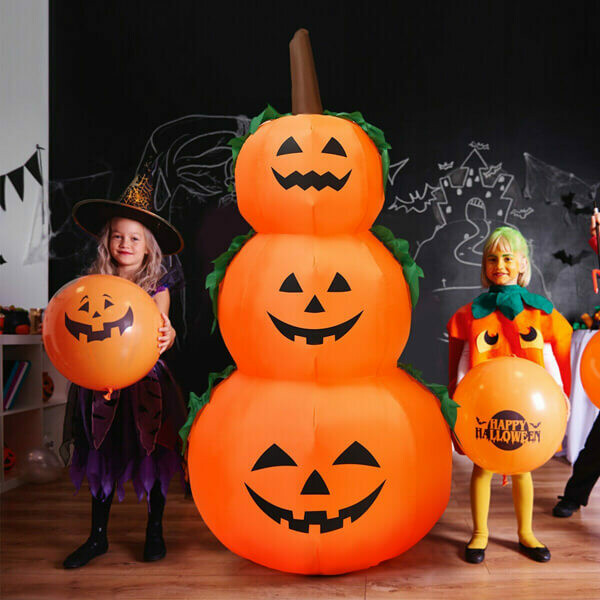 6FT Halloween Inflatable Stacked Pumpkins