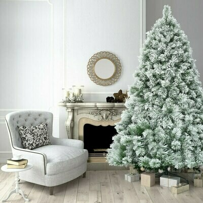 7ft Artificial Christmas Tree with Snowy Pine Needles