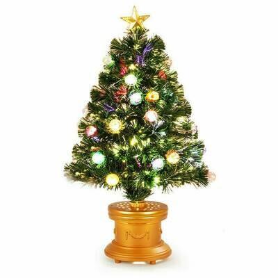 3' Pre-Lit Fiber Optical Firework Christmas Tree