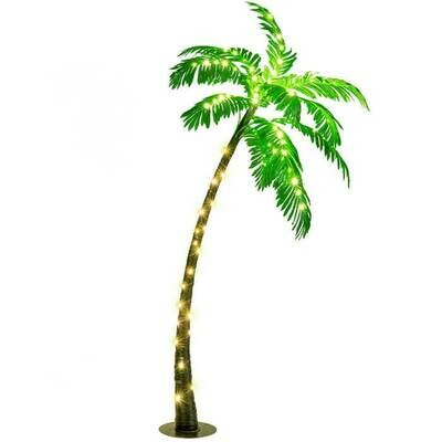 5ft Artificial Lighted Palm Tree with LED Lights