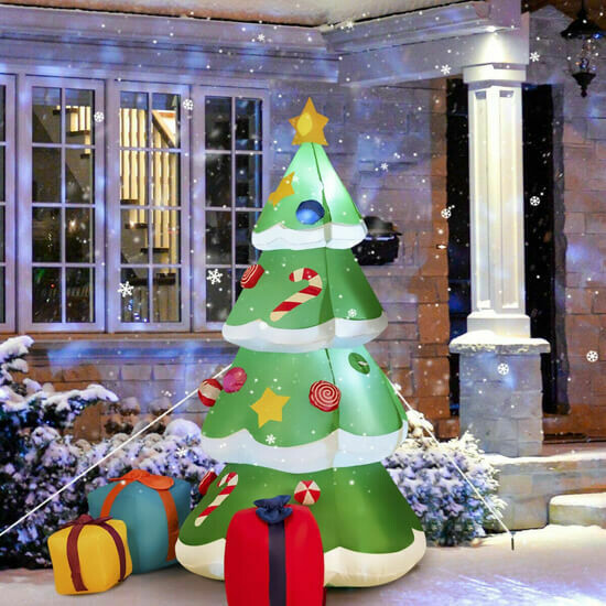 Giant Inflatable Christmas Tree with 3 Gift Wrapped Boxes