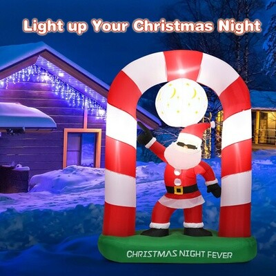 7.5ft Inflatable Christmas Lighted Santa Claus