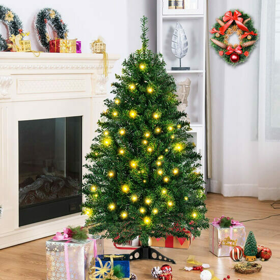 4ft Tabletop Artificial Christmas Tree with LED Lights