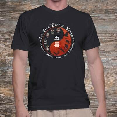 the Five Deadly Venoms T-shirt