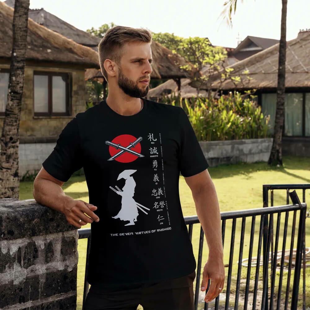 The Seven Virtues of Bushido T-shirt