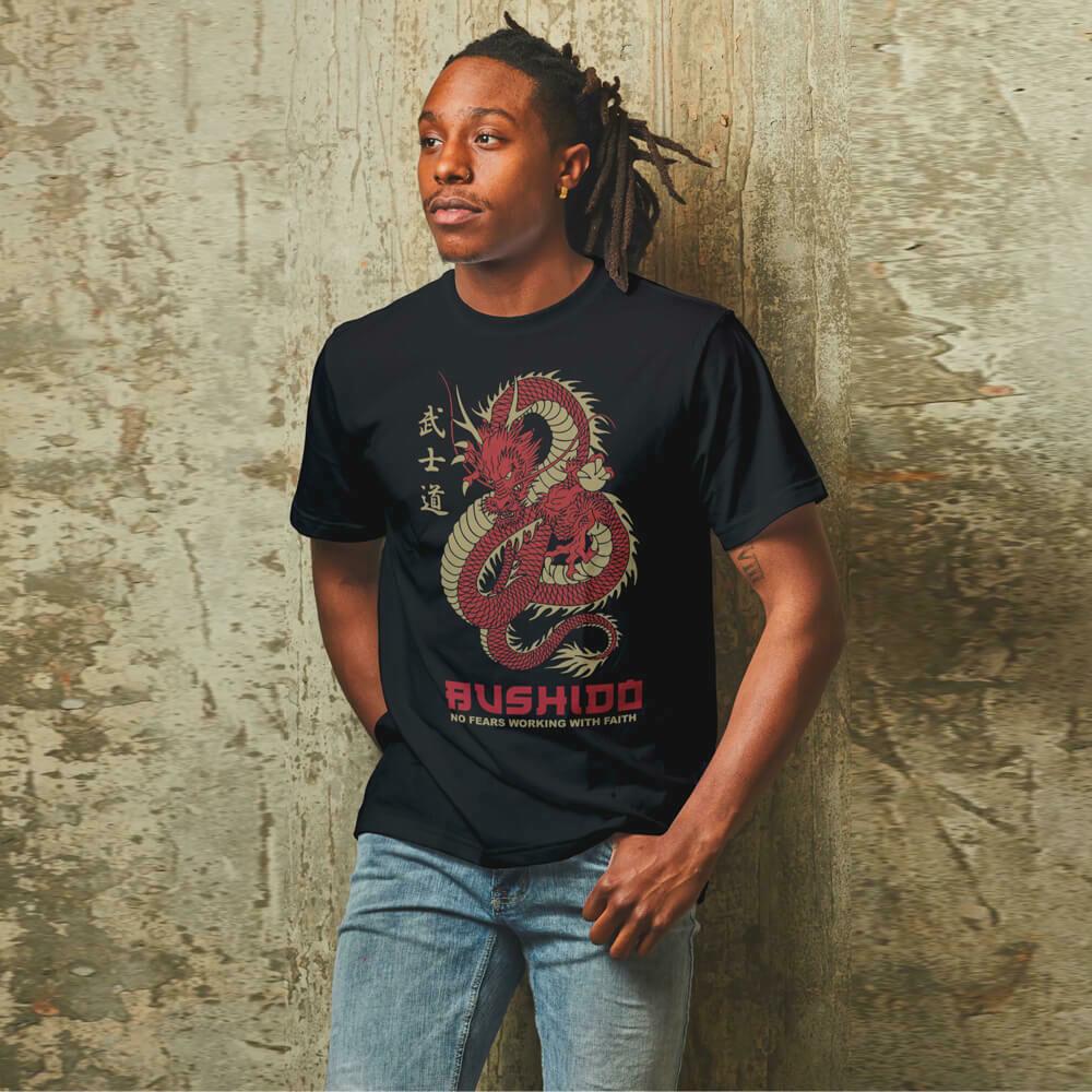 Bushido No Fears Working With Faith T-shirt