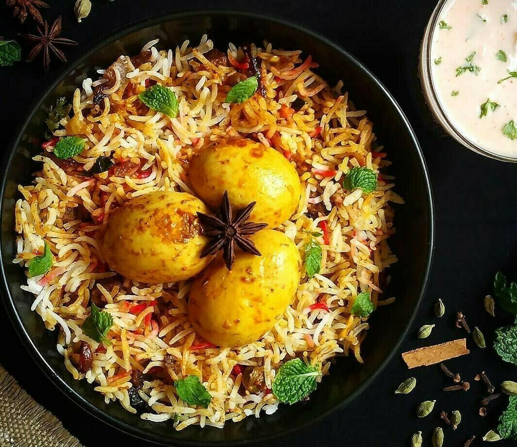 Egg Biryani Tray