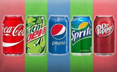 Soft Drinks (Coke, Sprite, Pepsi)