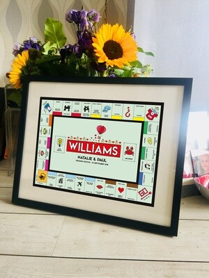 Personalised Monopoly Family / Wedding Print