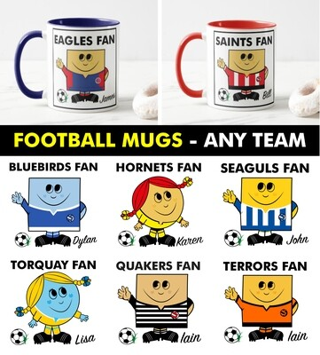 Football Fan Mug (Any Team)