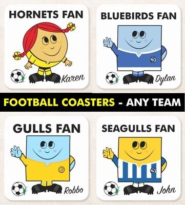Football Fan Coaster (Any Team)